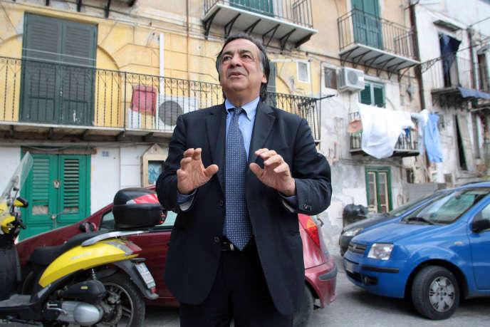 Leoluca Orlando à Palerme, en 2012.
