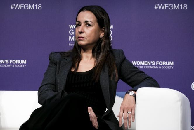 La nouvelle PDG de Solvay, Ilham Kadri, le 15 novembre 2018, à Paris.