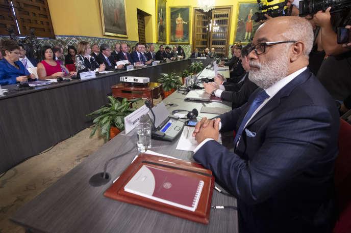 Les ministres des affaires étrangères du Groupe de Lima, le 4 janvier 2019.