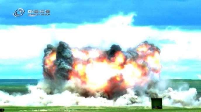 Capture écran de la vidéo diffusée par le fabricant étatique d'armement chinois, Norinco.