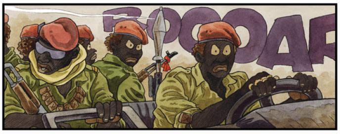 Extrait du tome 2 de« Tempête sur Bangui», de Didier Kassaï.