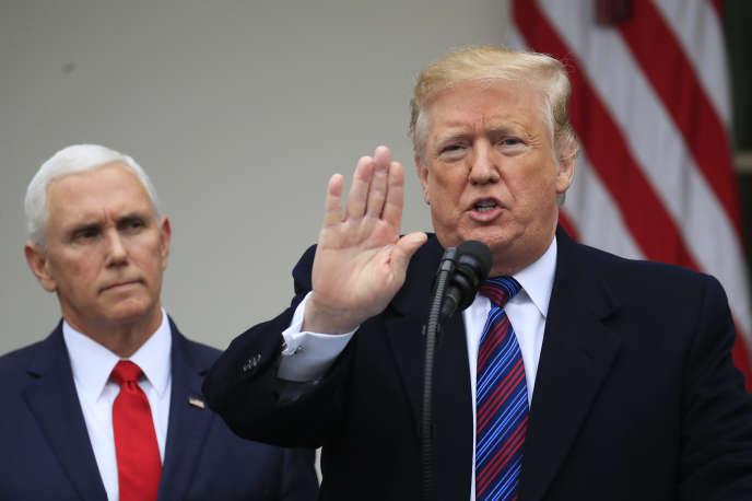 Donald Trump à l'issue de la réunion avec les démocrates sur le « shutdown», le 4 janvier à la Maison Blanche.