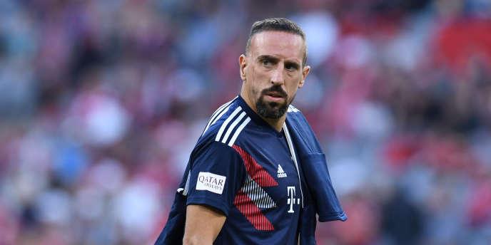 Franck Ribery, en octobre 2018, lors d'un match avec le Bayern Munich.