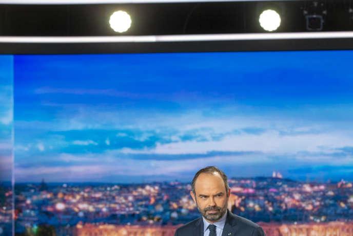 Lepremier ministre, Edouard Philippe, sur le plateau du journal de20 heures de TF1, le 7 janvier.