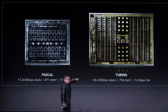 Jensen Huang, patron et fondateur de Nvidia, au Consumer Electronics Show de Las Vegas (Nevada), le 6 janvier.