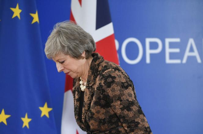 La première ministre britannique, Theresa May, le 14décembre2018 à Bruxelles.
