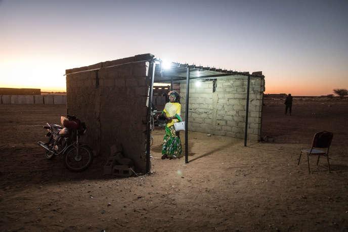 Site d'accueil des refoulés nigériens en provenance d'Algérie, à Agadez.