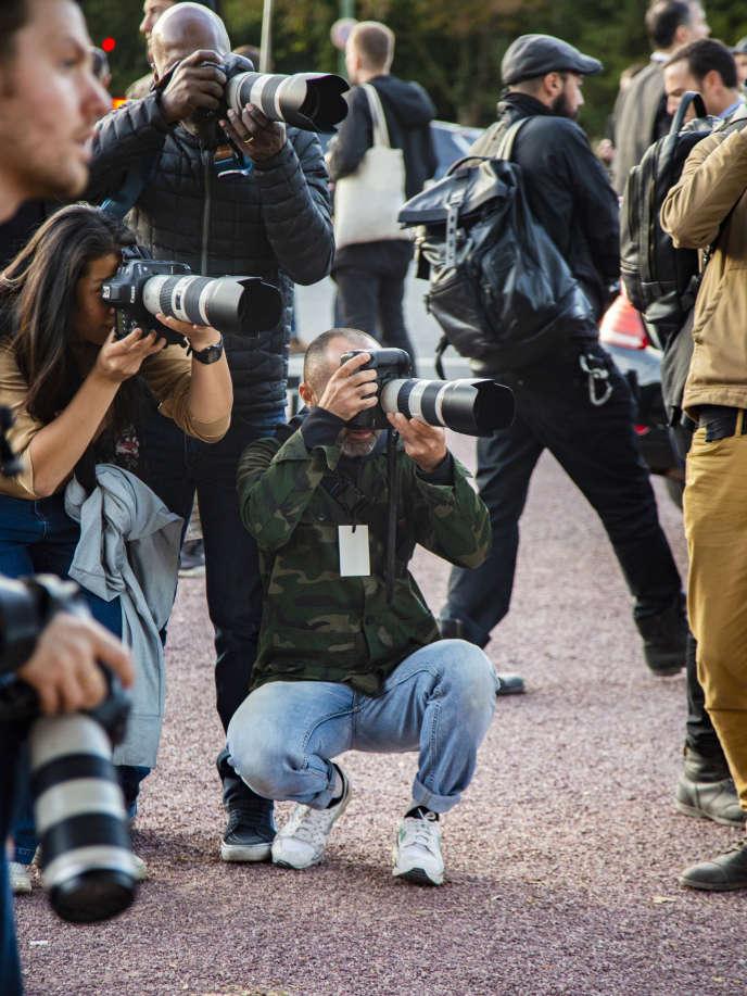 Jonathan Paciullo lors de la fashion week prêt-à-porter femme, à Paris, en septembre 2018.