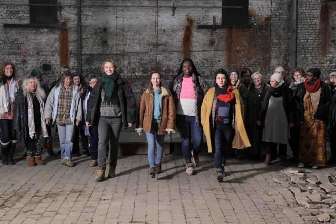 Corinne Masiero, Audrey Lamy, Déborah Lukumuena et Noémie Lvovsky dans« Les Invisibles», deLouis-Julien Petit.