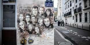 Hommage aux victimes des attentats de janvier 2015, le 7 janvier àParis.