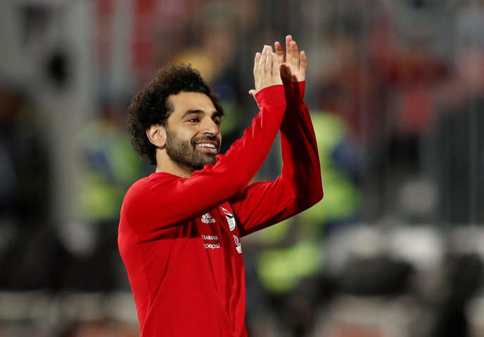 L'attaquant égyptien Mohamed Salah, le 16novembre2018, à Alexandrie, avant le match contre la Tunisie dans le cadre des éliminatoires de la Coupe d'Afrique des nations.