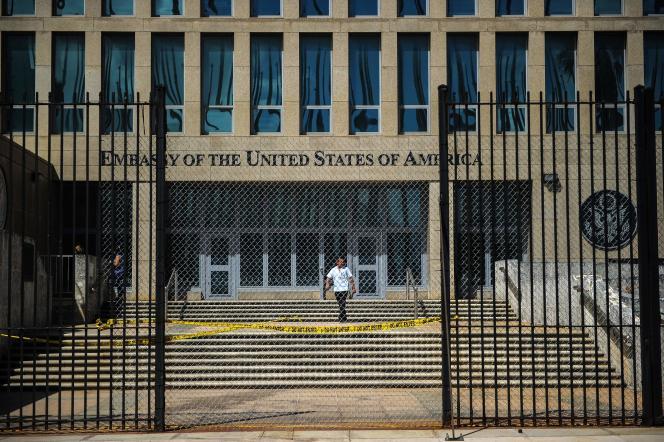 L'ambassade des Etats-Unis à la Havane (Cuba), le 3 octobre 2017.