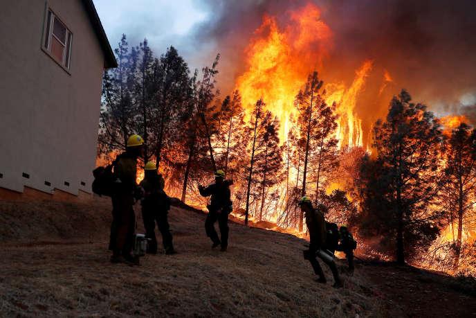 «Camp Fire a été l'incendie le plus meurtrier qu'aient connu les Etats-Unis depuis plus d'un siècle. Il aurait fait 85 morts, selon un bilan du 3 décembre, onze personnes étant portées disparues. Le feu a ravagé 620 km2 de forêt» («Camp Fire», Californie, Etats-Unis, le 8 novembre 2018).