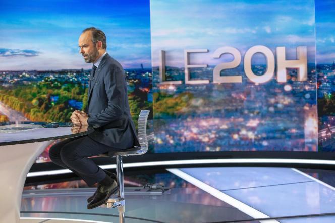 Edouard Philippe, Premier Ministre, est l'invité du journal de 20h de TF1 à Boulogne, lundi 7 janvier 2019.