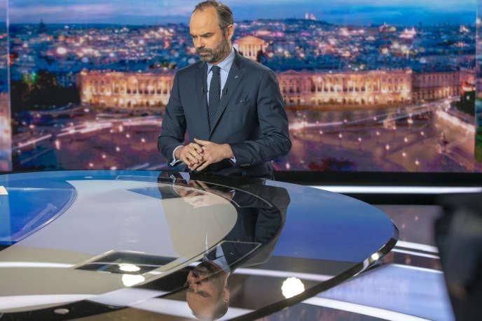 Le premier ministre, Edouard Philippe, était l'invité du «20heures» deTF1, lundi7janvier.