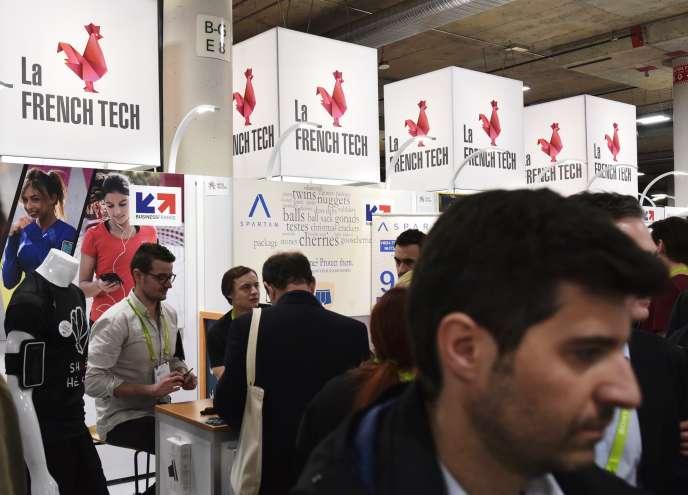 Le pavillon français, lorsdu Consumer Electronics Show de Las Vegas, en janvier 2018.