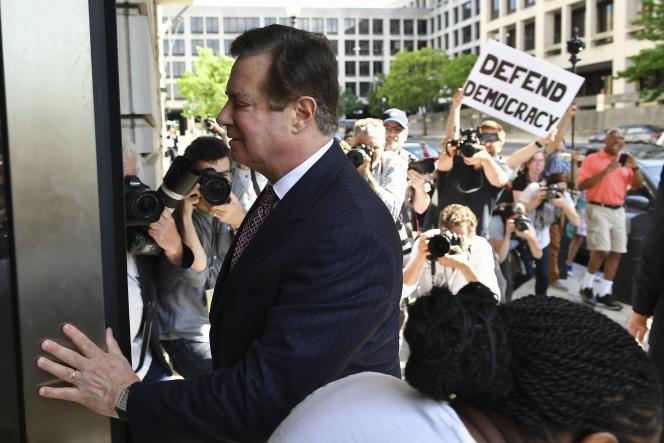 Paul Manafort, le 15 juin 2018, arrivant à un tribunal de Washington.