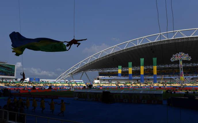 Lors de la cérémonie d'ouverture de la Coupe d'Afrique des Nations, à Libreville en janvier 2017.