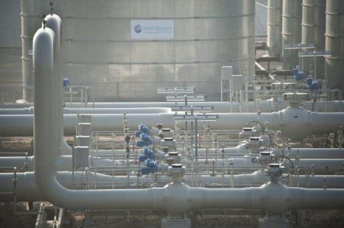 Le gazoduc Nord Stream 1, en novembre 2011, dont Nord Stream 2 doit venir doubler la capacité.
