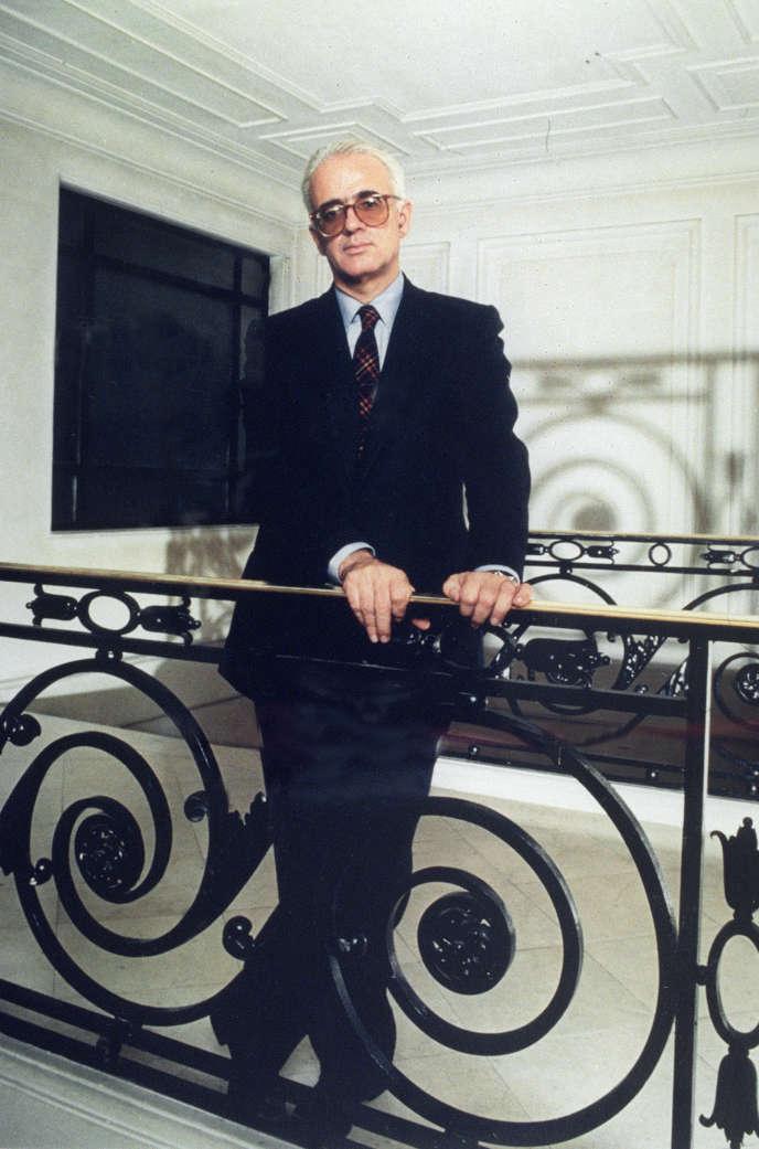 Christian Bourgois, fondateur de la maison d'édition qui porte son nom, à Paris, en août 1989.