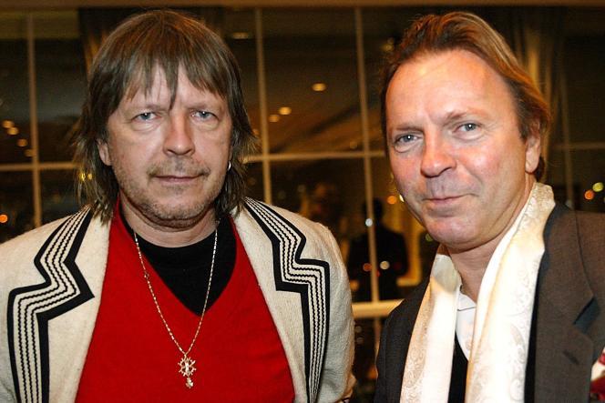 Thierry Séchan (à droite) et son frère Renaud, le 22 janvier 2004.