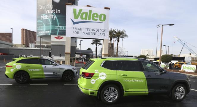 Les véhicules autonomes de Valeo auConsumer Electronics Show de Las Vegas, le 8 janvier.