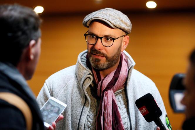 Le président de l'association « La Parole libérée», Francois Devaux, un des témoins au procès du cardinalBarbarin, à Lyon, le 7 janvier.