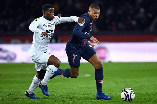 Kylian Mbappé, le 9 janvier au Parc des Princes, face à Guingamp.