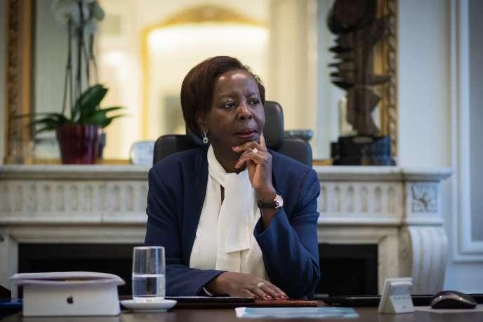 La secrétaire générale de l'OIF, Louise Mushikiwabo, à Paris, le 7janvier 2019.