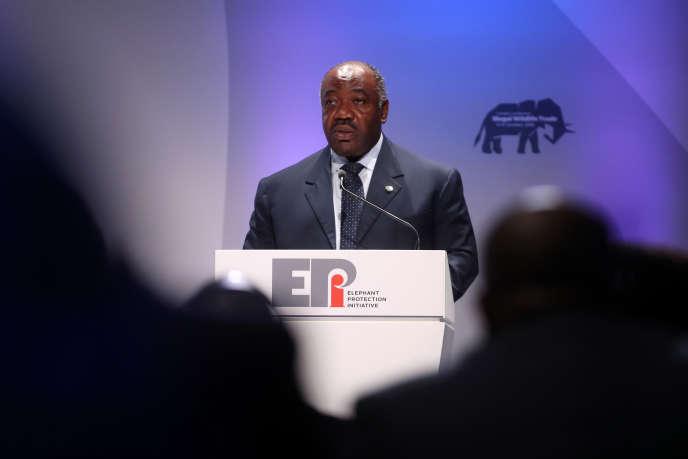 Le président gabonais, Ali Bongo Ondimba, à Londres, le 11octobre 2018.