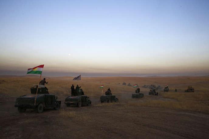 «Dans la méthode, la désinvolture de Trump est extrême : aucune consultation de ses alliés, ni même de ses subordonnés. Pour l'avenir, cela pose problème». Photo Un convoi de Peshmerga Kurdes à 30 km de Mossoul (Irak).