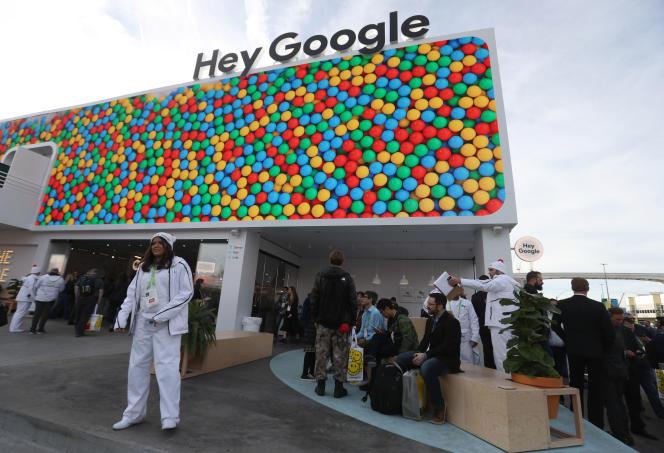 Le stand de Google au CES (Consumer Electronics Show) de Las Vegas (Nevada, ouest des Etats-Unis), le 8 janvier.