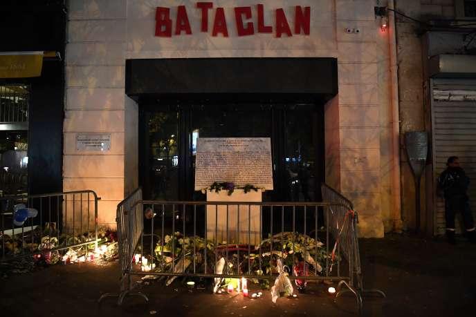 Commémoration de l'attentat au Bataclan du 13 novembre 2015, en novembre 2017.
