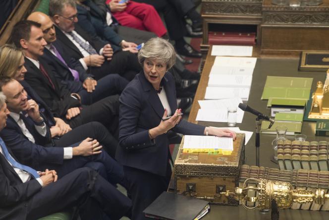 La première ministre, Theresa May, au Parlement, le 9 janvier.