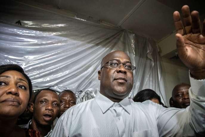 Félix Tshisekedi peu après son élection, le 10 janvier.