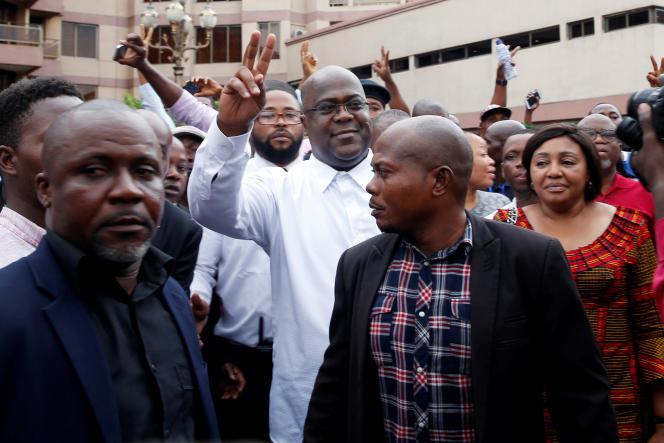 Felix Tshisekedi, le 10 janvier, à Kinshasa.