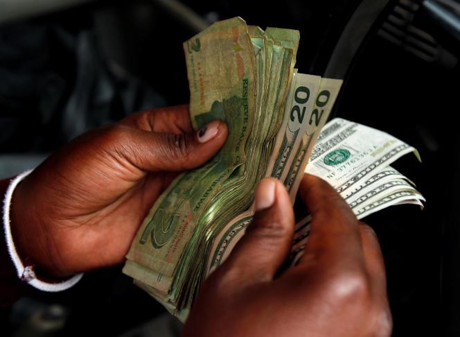 Dollars zimbabwéens, 10 Janvier 2019. REUTERS/Philimon Bulawayo