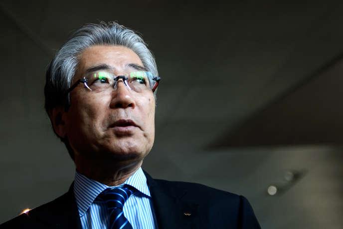 Le président du Comité olympique japonais, Tsunekazu Takeda, au siège du CIO, à Lausanne, le 10 décembre 2013.