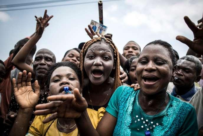 Des partisans de Félix Tshisekedi, à Kinshasa, le 10 janvier 2019.