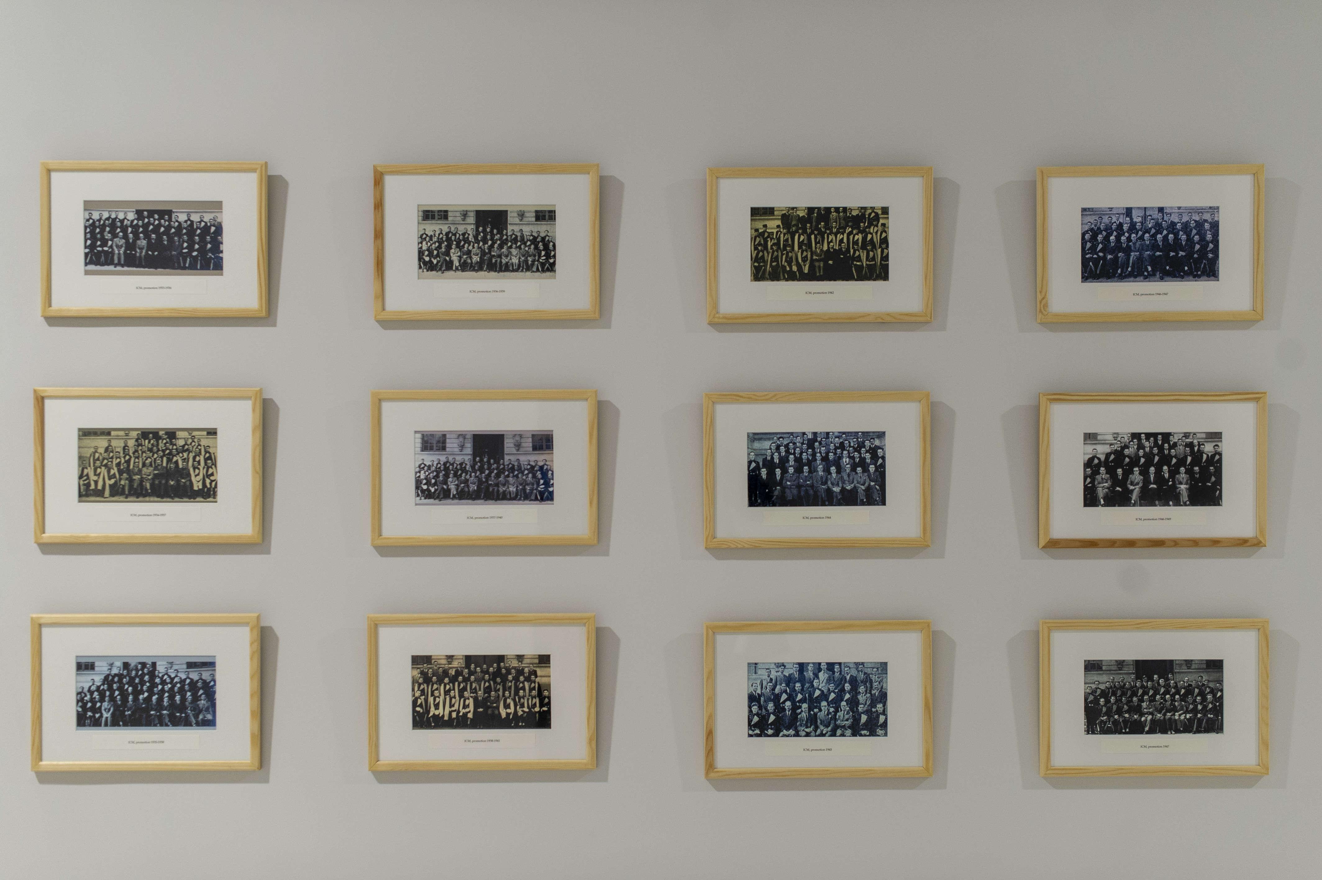 Photos de promotions de l'école des Mines. Son statut d'ecole d'ingénieurs date d'une ordonnance de 1831.