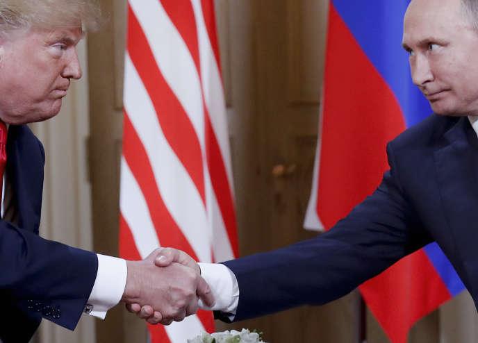 Donald Trump et Vladimir Poutine, à Helsinki, le 16 juillet 2018.