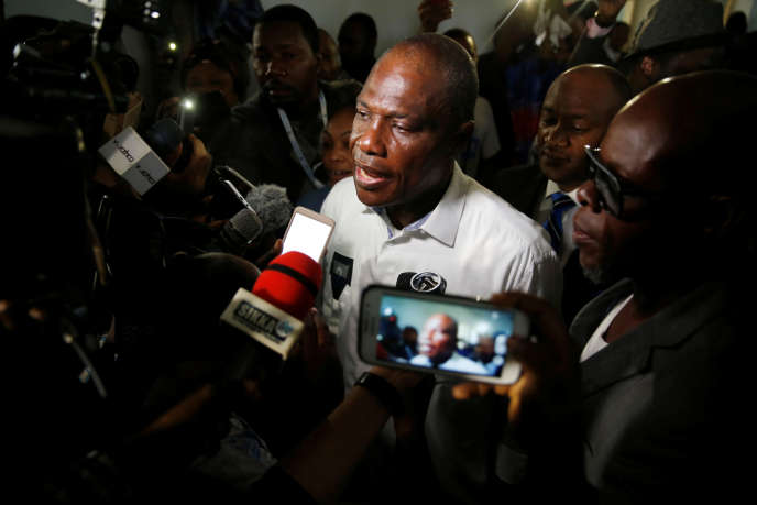 L'opposant congolaisMartin Fayulu, candidat à l'élection présidentielle en RDC, à Kinshasa, le 30décembre 2018.