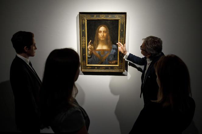 En 2017, un Christ en Salvator Mundi attribué à Léonard de Vinci avait été adjugé 450millions de dollars chez Christie's, il a été depuis contesté.