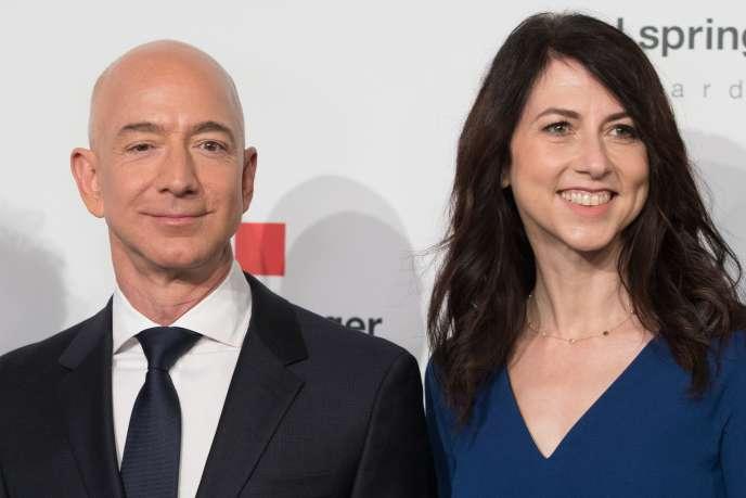 Jeff et MacKenzie Bezos, à Berlin, en avril 2018.