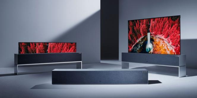 La Signature OLED TV R peut disparaître totalement dans son socle.