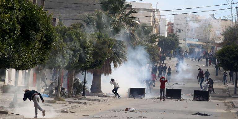 Troubles à Kasserine (Tunisie), le 25 décembre 2018, après la mort du journaliste Abderrazak Zorgui.