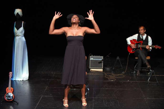 «Portrait de Ludmilla en Nina Simone»,avec Ludmilla Dabo et David Lescot, à la Comédie de Caen ‒ Théâtre des Cordes, en septembre 2017.