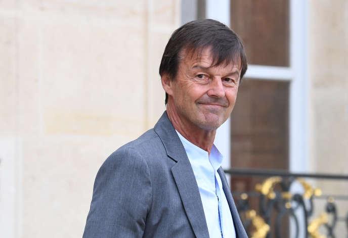 NicolasHulot, alorsministre de la transition écologique et solidaire, le 6 juin 2018 àl'Elysée.