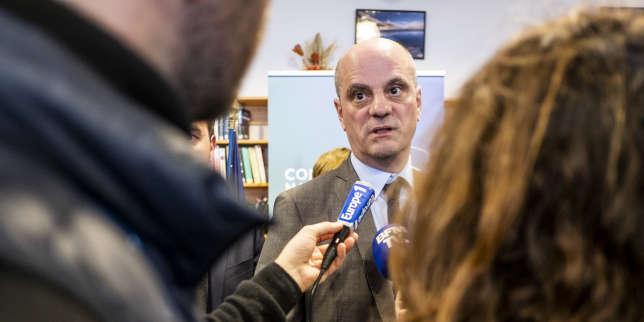 JM Blanquer, ministre de l'Education Nationale et de la Jeunesse, à l'occasion d'un point presse, à l'issue de l'ouverture du Conseil national de la montagne, à Vallouise-Pelvoux, le 10 janvier 2019.