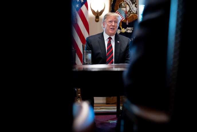 Le président américain Donald Trump s'exprime lors d'une réunion à la Maison Blanche sur la sécurité à la frontière, le11 janvier.